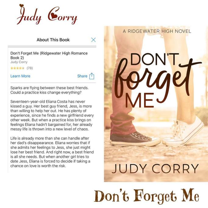 Dont Forget Me Ridgewater High 2 By Judy Corry Author Slims